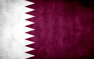 Qatar Grunge Flag by think0