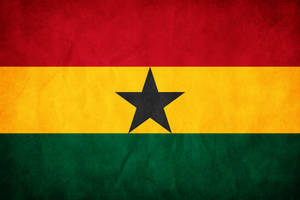 Ghana Grunge Flag by think0