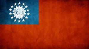 Myanmar Grunge Flag by think0