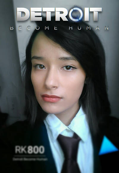 Connor RK800 female cosplay Detroit: Become Human by BrendaBirkin