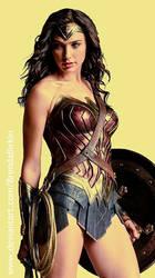 Wonder Woman Phone Wallpaper by BrendaBirkin