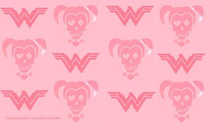 Logo Wallpaper Wonder Woman Harley Quinn by BrendaBirkin