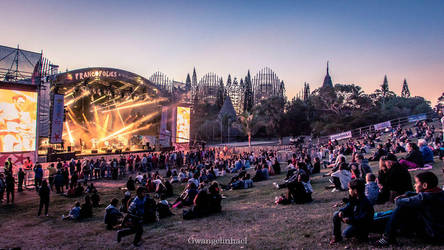 Sunset over the Francofolies by Gwangelinhael