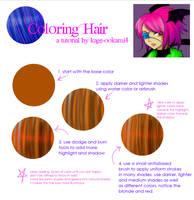 Simple Tutorial Coloring Hair by kage-ookami4