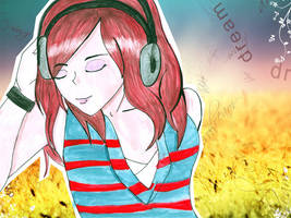 Summer Song Watercolor by muddypuddles