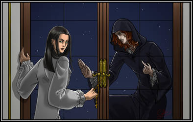 Let me in, Louis! by MC-Neko