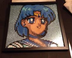 Sailor Mercury Perler Bead Design by Amber--Lynn