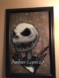Nightmare Before Christmas Jack Perler Bead Design by Amber--Lynn