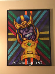 Thanos Infinity Gauntlet Perler Bead Design by Amber--Lynn