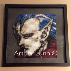 Chrono Trigger Magus Perler Bead Portrait by Amber--Lynn