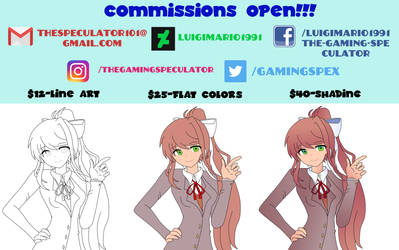 UPDATED COMMISSIONS PRICING by luigimario1991