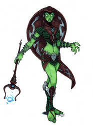 The Green Goddess - MOTU Redesign (2005) by CJEdwardsArt