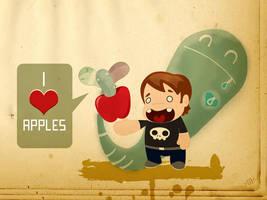 i love apples_collab by Hopeazul