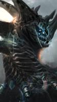 Summoned Dragon by GeorgeLovesyArt