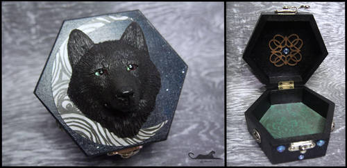 :.Wolf trinket box.: by XPantherArtX