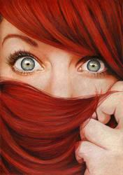 Flaming Hair by vame