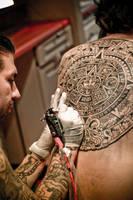 Aztec Calendar Tattoo by Kairy-Ma