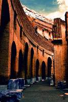 Rome ~ Inside the Colosseum by ShiroiKrow