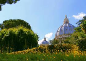 Vatican Gardens by ShiroiKrow