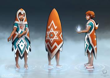 Aradhana Character Design by ShiroiKrow