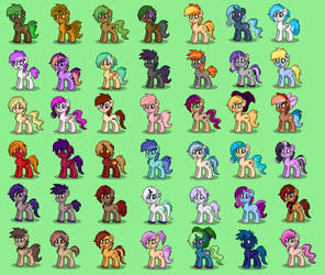 Pony Town - Cavalcade of Ponies by JaegerPony