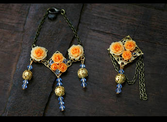 Orange Roses by NeeDoll