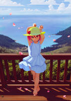 Enjoy the breeze by ALKEMANUBIS