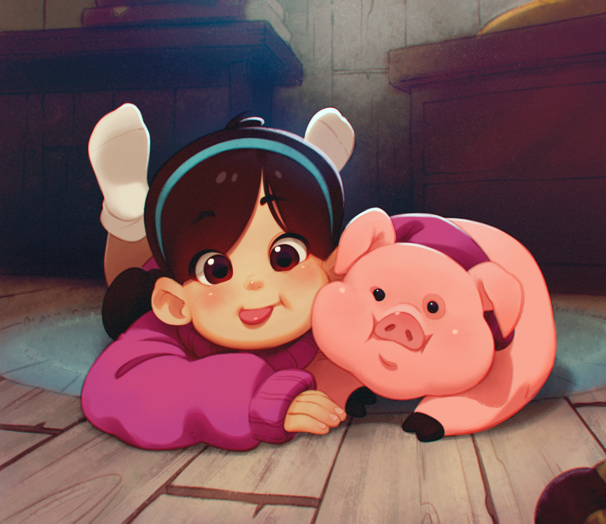 Mabel and Waddles by ALKEMANUBIS