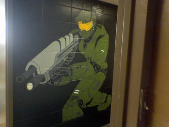 Master Chief Dorm Wall Final by Spartan-B34