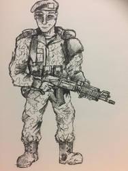 Marine Support gunner by PossessedIron