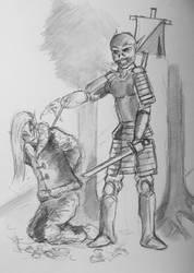 Jinsah Officer and Ice Elf militiaman  by PossessedIron
