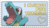 Love Totodile by princeofpixels