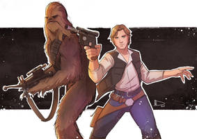 Han and Chewy by Future-Infinity