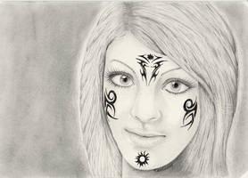 Tattoo-Girl by TinasArtwork