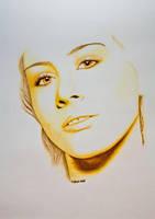 Golden Eyes by TinasArtwork