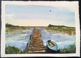 Lonely lake by sintel16