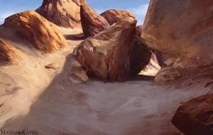 Virtual Plein Air - Valley of Castles, Kazakhstan by Narholt