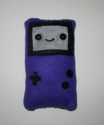 Purple Gameboy Plushie by kiddomerriweather