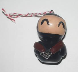 Clay Ninja Ornament by kiddomerriweather