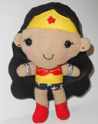 Wonder Woman Plushie by kiddomerriweather