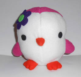 Pink Penguin Plushie by kiddomerriweather