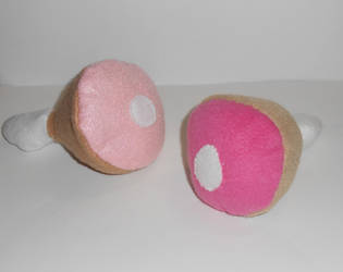 Ham Plushies by kiddomerriweather