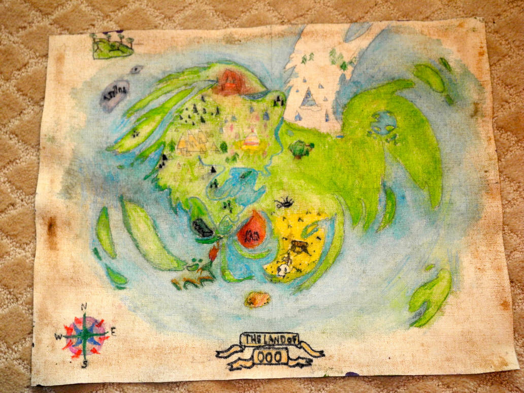 Land of Ooo map. by capriciousChloe on DeviantArt