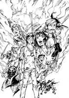 Battle for Hogwarts -SPOIL- by dekarogue