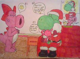 Santa Daddy Yoshi by MCGoldYoshi