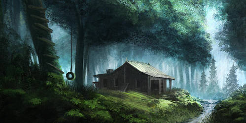 Cabin in the woods by ourlak