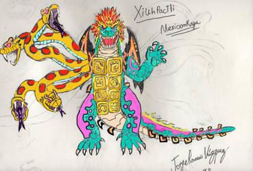 Xiuhpactli new artwork (digital version) by Mexicankaiju