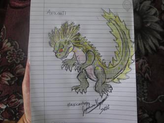 Axocoatl for Dracosaurus Rex by Mexicankaiju