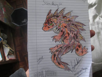 Sanshoujin for Dracosaurus-Rex by Mexicankaiju