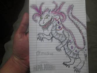 Olmudrac for Dracosaurus-Rex by Mexicankaiju